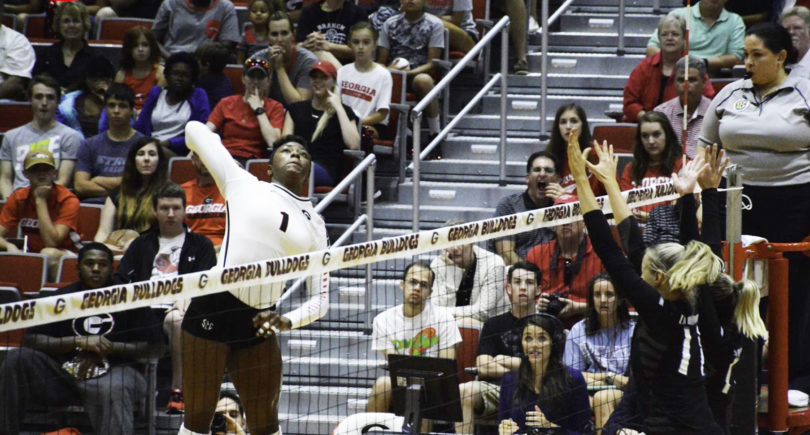 Georgia's T'ara Ceasar was named the SEC volleyball Freshman of the Week