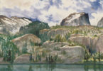"Martha Odum's ""Bear Lake Cliffs"" is part of the exhibition."