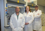 Research team members helping to develop the SAAVE vaccine platform include (from left to right) associate professor Jeff Hogan, postdoctoral fellow Shawn Zimmerman and UGA Foundation Distinguished Professor M. Stephen Trent.