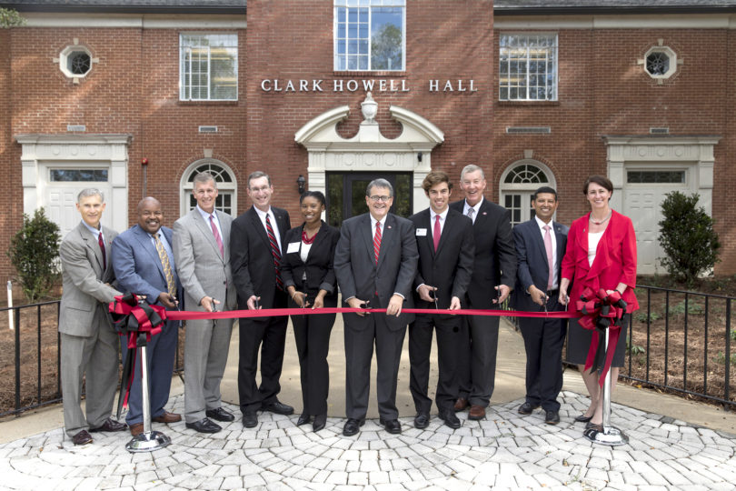 UGA dedicated the newly renovated Clark Howell Hall, which offers greater accessibility for the more than 27,500 people who benefit from the Career Center, the Disability Resource Center and University Testing Services each year. (Andrew Davis Tucker/UGA)