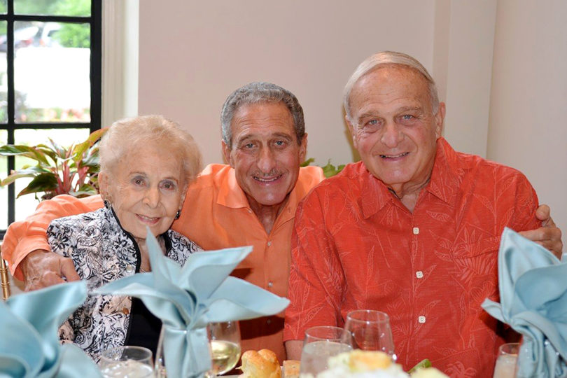 The Home Depot co-founder Arthur M. Blank (center) with his late mother, Molly, and his brother, Michael. The Molly Blank Fund of The Arthur M. Blank Family Foundation has contributed $1 million to support UGA pharmacy students facing financial hardships.