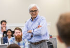 Sundar Bharadwaj conducts a marketing class in the Terry College of Business.