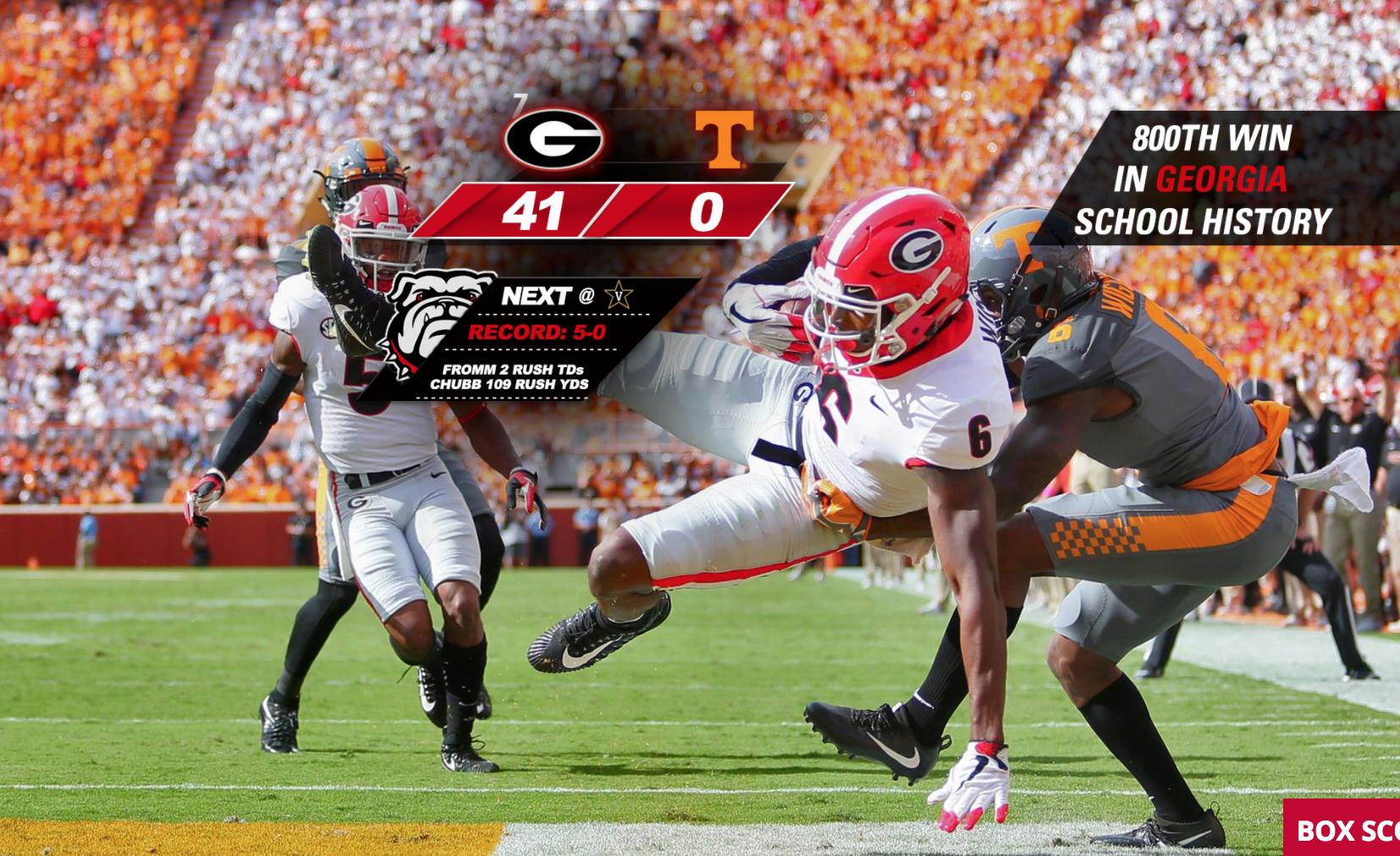 Georgia Bulldogs Blank Tennessee 41 0 Uga Today