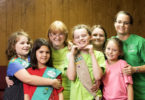Barbara Galvond, shown third from left with her Girl Scout troop, has worked with girls in scouting at every age level.