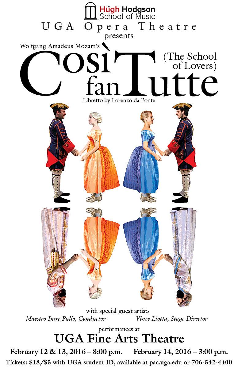 Cosi fan Tutte UGA Opera Theatre