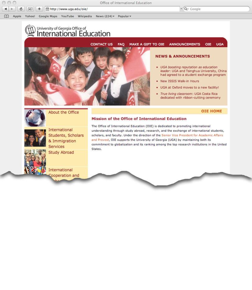 International education reorganizes web site uga today - Georgia tech office of international education ...