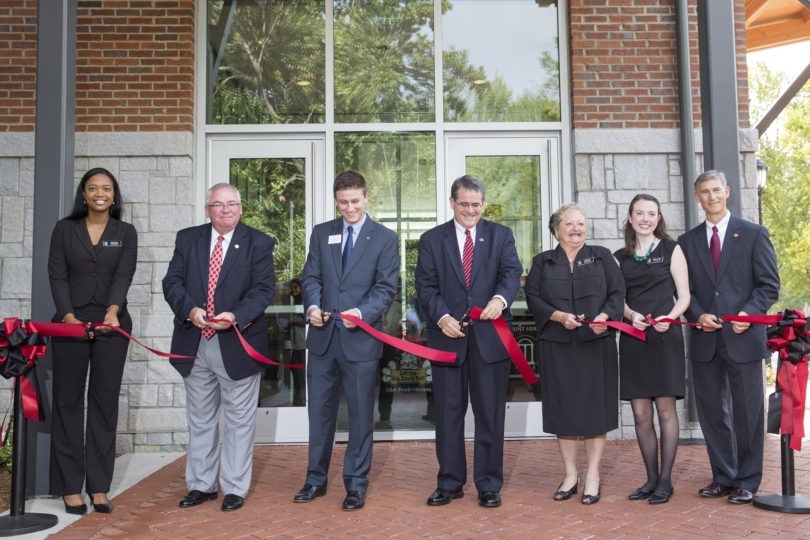 Bolton Dining Commons ribbon cutting 2014-h.photo