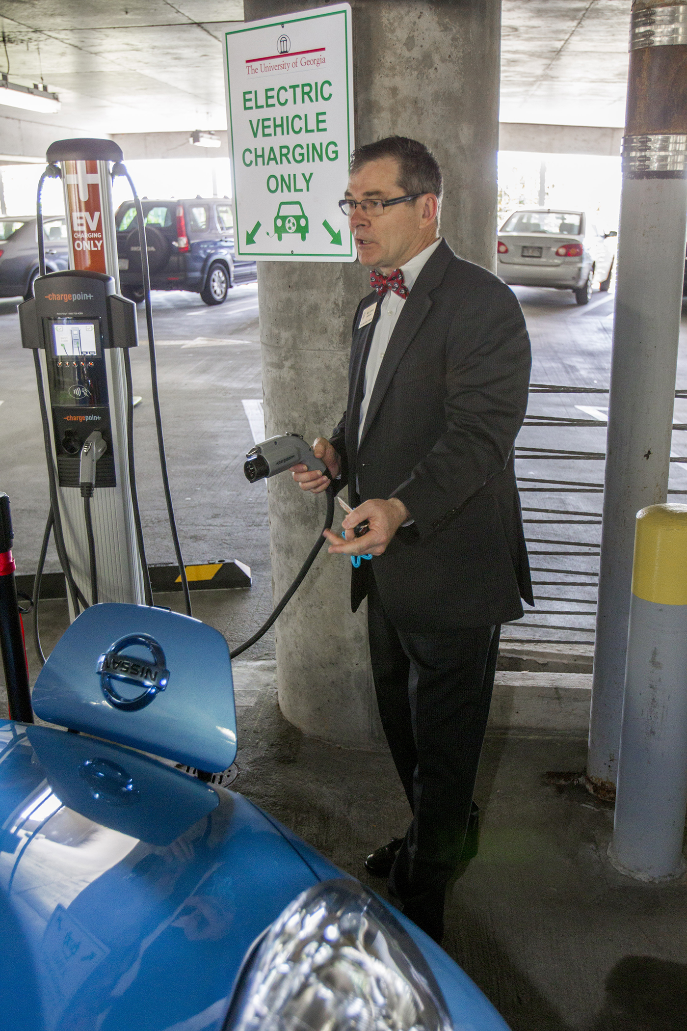 UGA installs first public level 2 electric vehicle charger