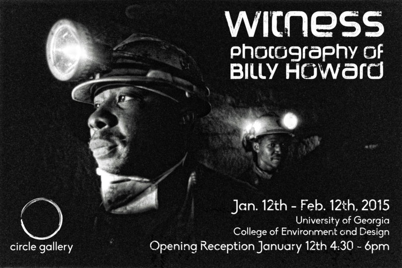 Circle Gallery Witness Billy Howard poster bw-h