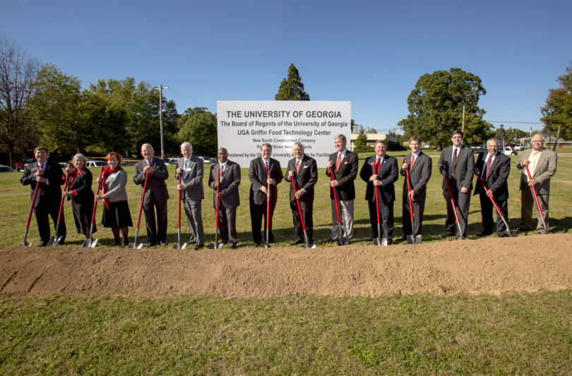 Griffin Food Technology Center groundbreaking 2014-h.group