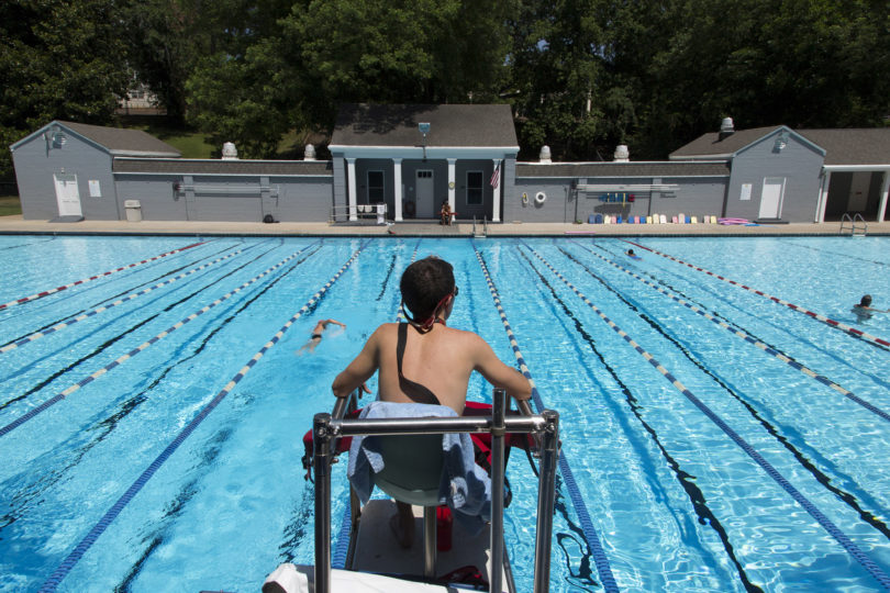 Legion Pool behind lifeguard 2014-h