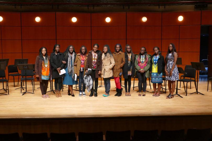 Kenyan students visit Moi Girls stage-h