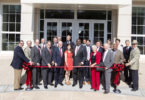 Science Learning Center ribbon cutting presidents pick-h