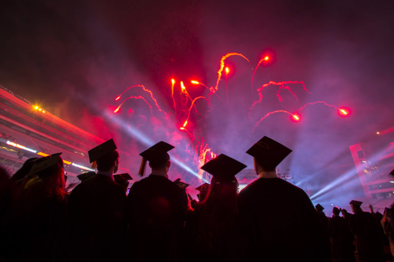 Commencement spring 2015-undergraduate-h. fireworks 2
