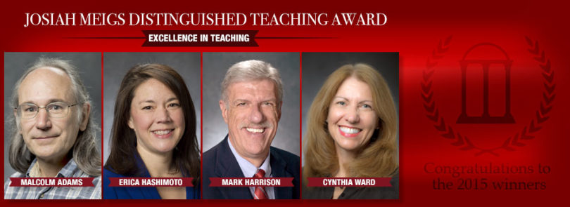Four faculty members receive Meigs Awards