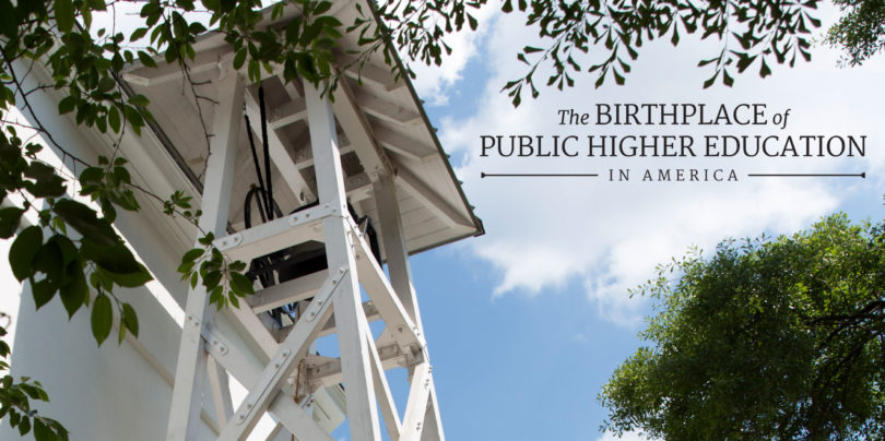 The birthplace of public higher education