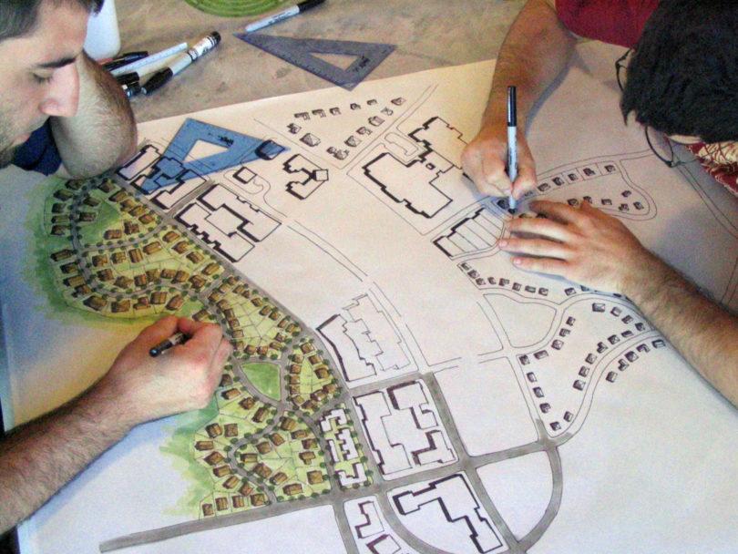 CED Design charrette students draw-h