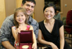 Euna Lee with family