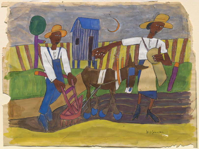 "GMOA William H. Johnson ""Sowing""-h.painting"