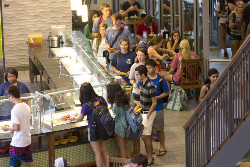 Bolton Dining Commons serving line-h