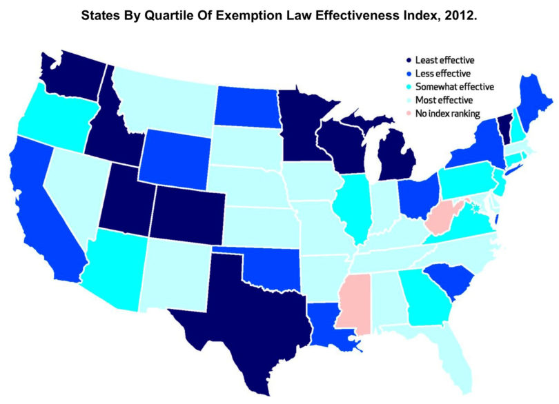 State vaccination policy effectiveness map Bradford 2015-h.graphic