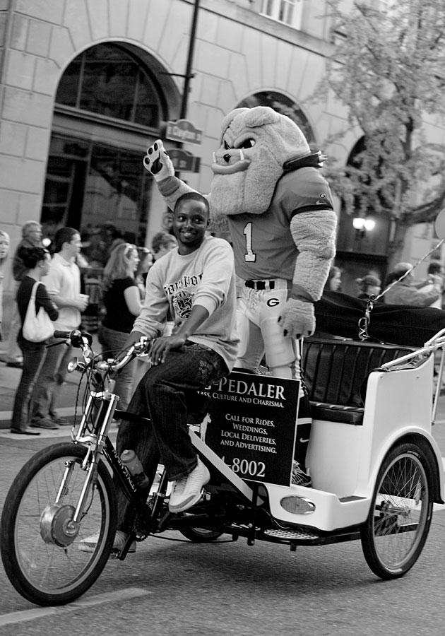 Hairy Dawg rides the Dawg Pedaler