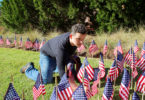 Kyle McReynolds flags veterans day display-h