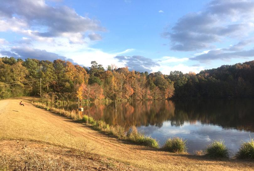 Lake Herrick fall colors reflection 2016-h