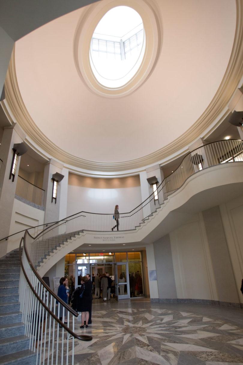 Russell library atrium-V.Portrait