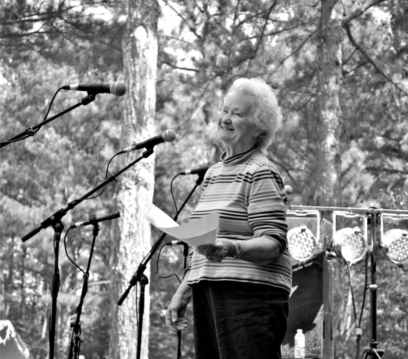 Mary Lomax Folk Singer Russell Library-bw-square