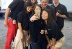 Jere Morehead selfie students move-in-v