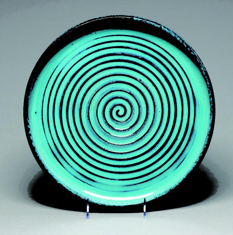 Newcomb pottery platter GMOA-sq
