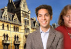 Rhodes Scholars in front of Oxford-H.Superimposed