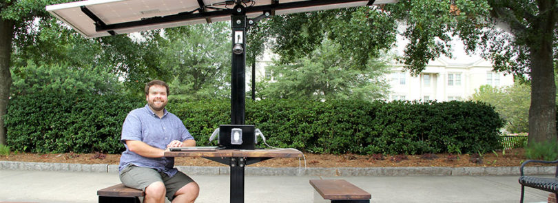 UGA Charges Ahead With Solarpowered Picnic Table UGA Today - Solar picnic table