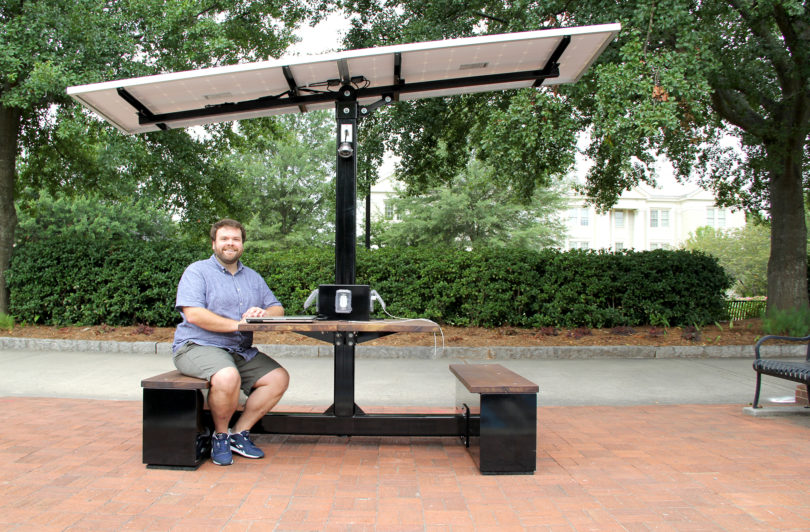 Uga Charges Ahead With Solar Powered Picnic Table Uga Today