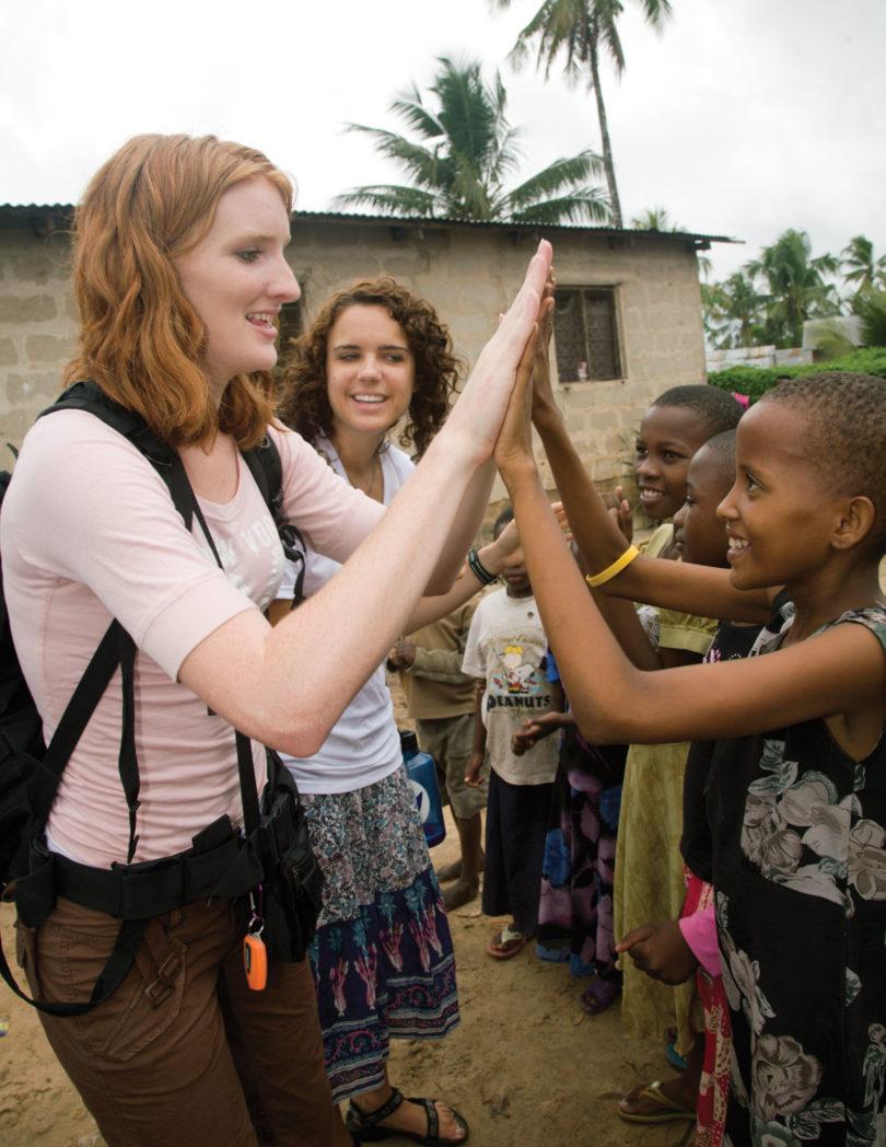 Tanzania study abroad students-v.env