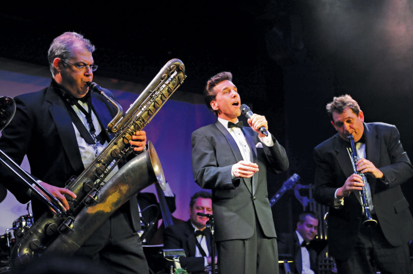 Bandleader/vocalist Michael Andrew performs with Gershwin's Big Band.