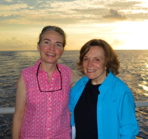 Samantha Joye with Sylvia Earle of Mission Blue on the Alucia.
