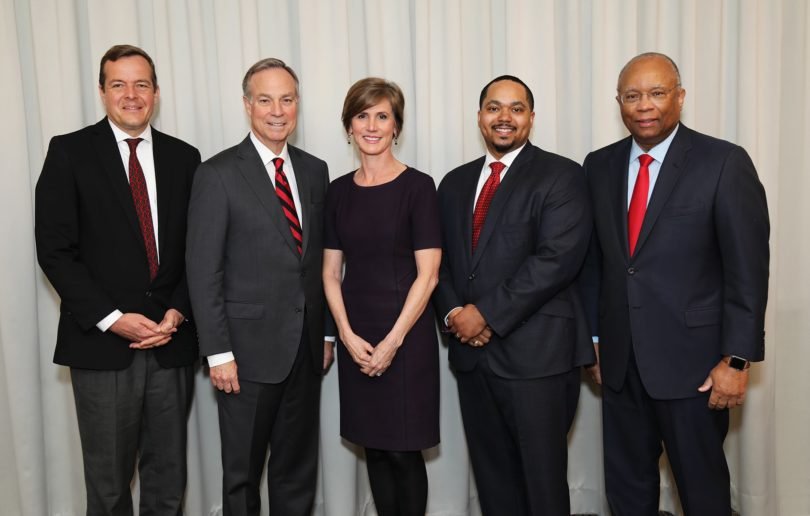 UGA School of Law Dean Bo Rutledge, Don Waters, Sally Yates, Cameron Hawkins and Larry Thompson
