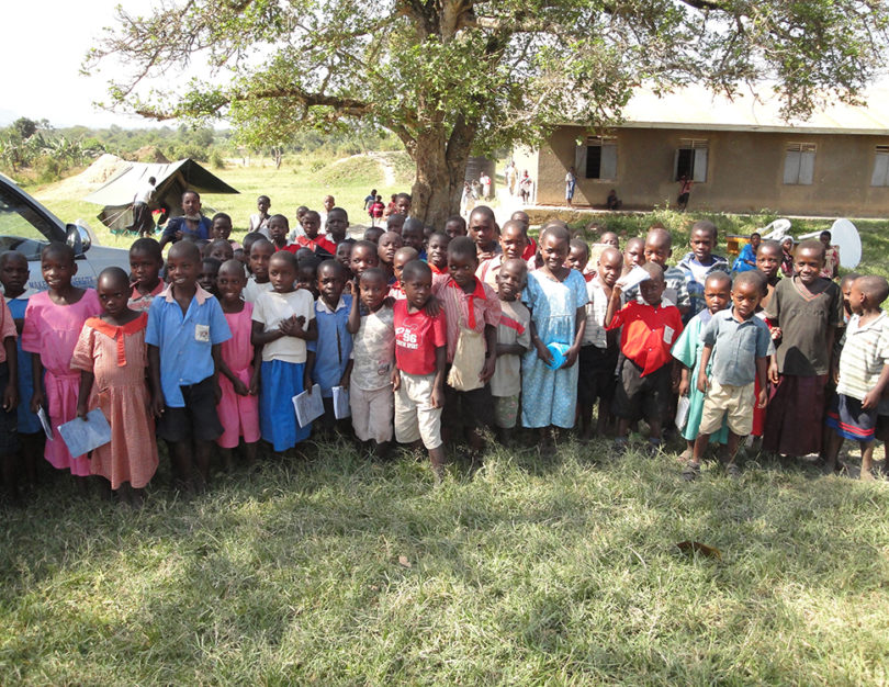 Children in Uganda photographed as part of a global health faculty visit