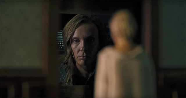 "Toni Collette in the movie ""Hereditary."""