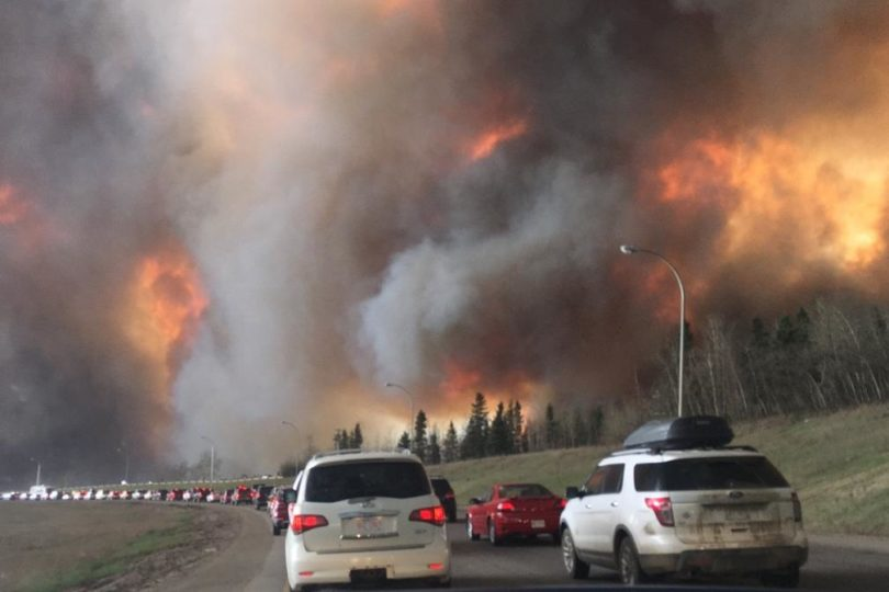 Photo of wildfire at Fort McMurray.