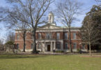 Photo of Hirsch Hall, home of the College of Law. (Photo by Peter Frey/UGA)