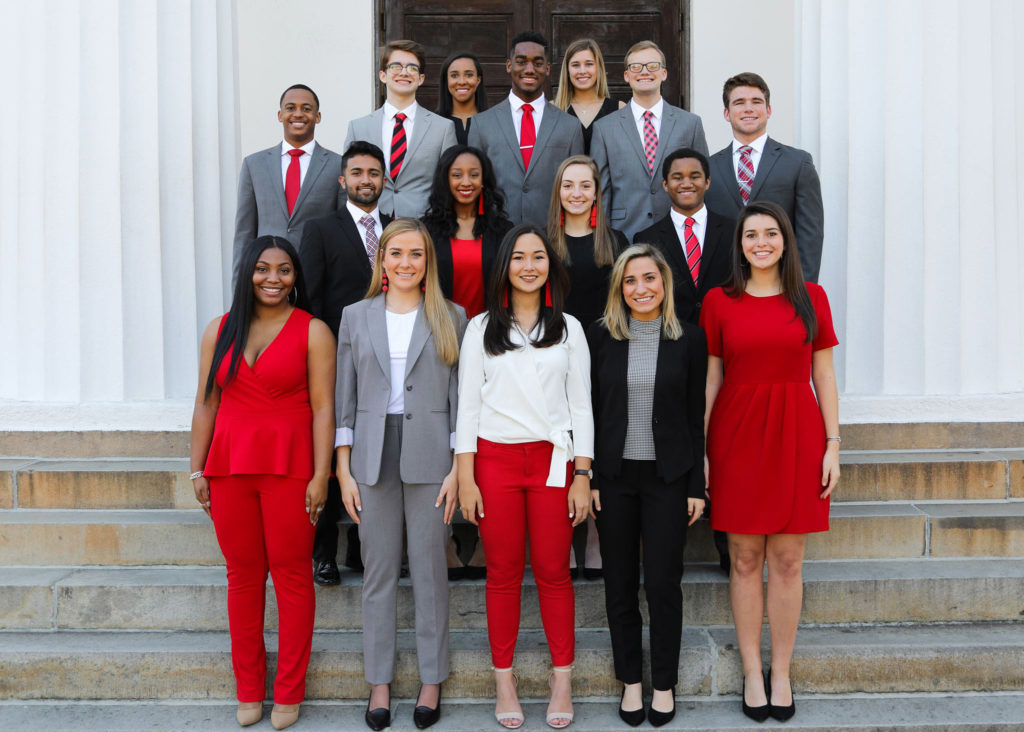 Photo of a group of UGA students
