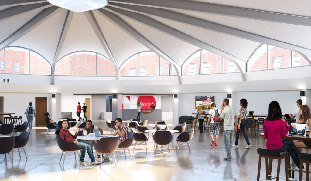 A rendering of Brumby's rotunda.