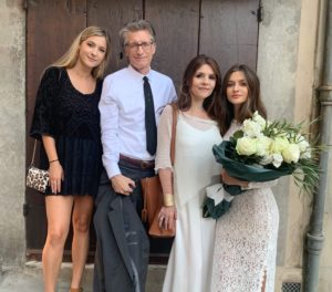 Prisca Zaccaria celebrated 25 years of marriage in Cortona this summer with her husband and daughters.