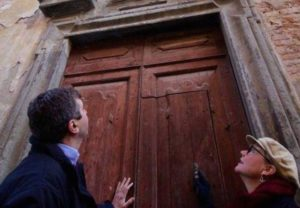 Rita and Tim Richardson outside of the chapel they are working to save.