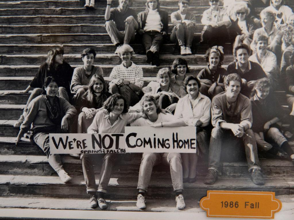 UGA students who studied in Cortona in 1986.
