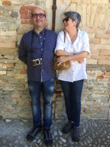 Rebecca Ghezzi and her husband, Roberto, in Cortona.