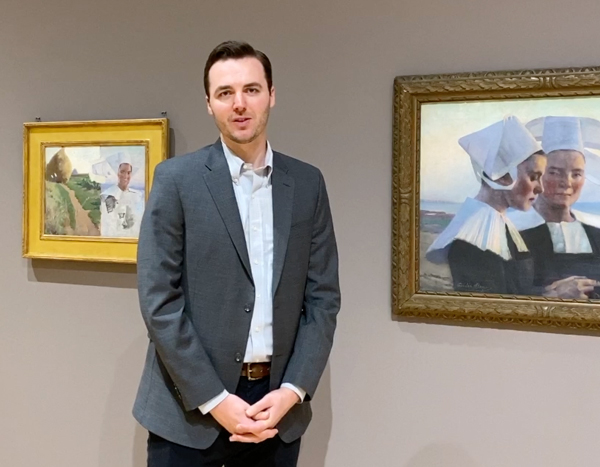 Still from a video tour by Jeffrey Richmond-Moll, curator of American art.